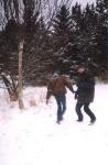 снежки в кадр не попали, а вот в физиономии, видимо, да :)